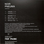 Back View : Noir - PNEUMA (TRANSPARENT VINYL) - Noir Music / NM002