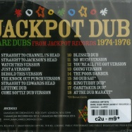 Back View : Various Artists - RARE DUBS FROM JACKPOT RECORDS 1974 - 1976 (CD) - Jamaican / jrcd052