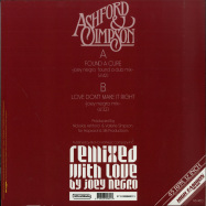 Back View : Ashford & Simpson - FOUND A CURE / LOVE DONT MAKE IT RIGHT (JOEY NEGRO REMIXES) - High Fashion Music / MS 480