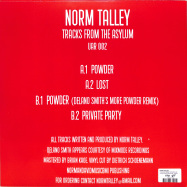 Back View : Norm Talley - TRACKS FROM THE ASYLUM - Upstairs Asylum Recordings / UAR002