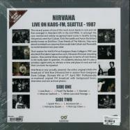 Back View : Nirvana - LIVE ON KAOS-FM, SEATTLE 1987 (180G LP) - Interference / intrlp0004