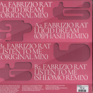 Back View : Fabrizio Rat - LUCID DREAM EP (O PHASE / SHLOMO RMXS) - Involve Records / inv027