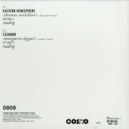 Back View : Radiq - EASTERN HEMISPHERE REMIXES - THOMAS MELCHIOR & MARGARET DYGAS REMIX - Cosmo Records / Cosmo0809RP