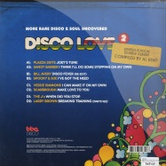 Back View : Various - DISCO LOVE 2 RARE DISCO MIXED BY AL KENT (2X12) - BBE Records / bbe172clp