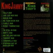 Back View : King Jammy - DUBBING AT KING TUBBYS (LP) - Jamaican Recordings / JRLP063LP