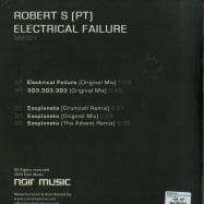 Back View : Robert S (PT) - ELECTRICAL FAILURE (THE ADVENT REMIX) (2X12 INCH) - Noir Music / NM001