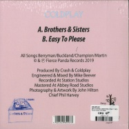 Back View : Coldplay - BROTHERS & SISTERS (PINK 7 INCH) - Fierce Panda / 00133858