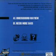 Back View : Persons Unknown - UNDERGROUND MAYHEM / NEEDS MORE BASS - Blueskinbadger Records / BSBR001