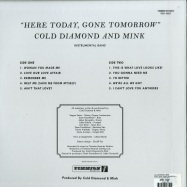 Back View : Cold Diamond & Mink - HERE TODAY, GONE TOMORROW (LP) - Timmion Records / TRLP12007