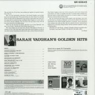 Back View : Sarah Vaughan - GOLDEN HITS (LTD GOLDEN LP) - Verve / 7788713