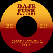 Back View : Crew SDR / Fat B. - DONT GIVE UP / KEEP IT COMING (7INCH) - Daje Funk Records / DFR003