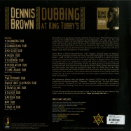 Back View : Dennis Brown - DUBBING AT KING TUBBYS (LTD 180G LP) - Jamaican / JRLP060LP