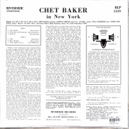 Back View : Chet Baker - IN NEW YORK (VINYL) (LP) - Concord Records / 7219767