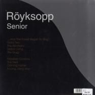 Back View : Royksopp - SENIOR (LP) - Wall Of Sound / wos080lp