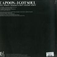 Back View : CAPOON - I GOT SOUL (REBOOT / MATT SASSARI RMXS) - Cafe D Anvers Records / CDAR001