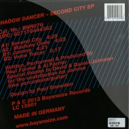 Back View : Shadow Dancer - SECOND CITY - Boys Noize / BNR076