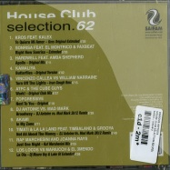Back View : Various Artists - HOUSE CLUB SELECTION 62 (CD) - Saifam / atl948-2