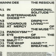 Back View : Manni Dee - THE RESIDUE (VINYL, 2LP) - Tresor / Tresor304