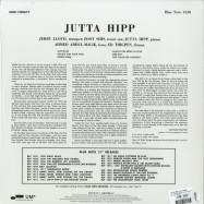 Back View : Jutta Hipp & Zoot Sims - JUTTA HIPP WITH ZOOT SIMS (180G LP) - Blue Note / 1530 / 0802771