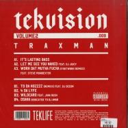 Back View : Traxman - TEKVISION VOL. 2 (LP) - Teklife / Teklife009 / 00135454