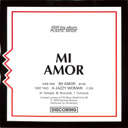 Back View : Plastic Mode - MI AMOR - Discoring Records / DR-003