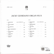 Back View : Jacky Giordano - JACKY GIORDANO ORGAN PLUS (LP) - Le Tres Groove Club / LTGC004