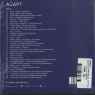 Back View : Various - GLOBAL UNDERGROUND:ADAPT #2 (CD) - Global Underground / 9029695025