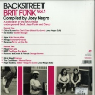 Back View : Various / Compiled by Joey Negro - BACKSTREET BRIT FUNK 1 (2LP) - Z Records / ZEDDLP018 / 05175151