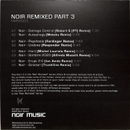 Back View : Noir - REMIXED PART 3 (2X12 INCH) - Noir Music / NMNR003