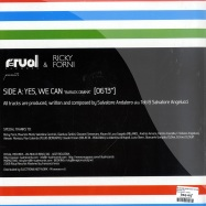 Back View : Salvatore Angelucci & Toti Andaloro - YES, WE CAN - Ritual Records / rtul005