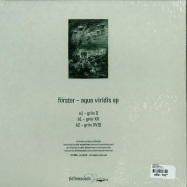 Back View : Foerster - AQUA VIRIDIS EP - Tiefenrausch / TR009