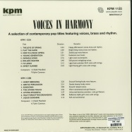 Back View : Keith Mansfield / John Cameron - VOICES IN HARMONY (THE KPM REISSUE)(LP,180G VINYL) - Be With Records / BEWITH041LP