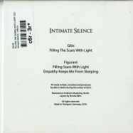 Back View : Glos - FILLING THE SCARS WITH LIGHT (CD) - Intimate Silence / INS001