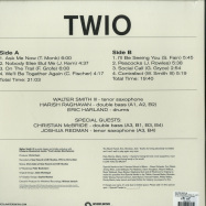 Back View : Walter Smith III - TWIO (COLOURED 180G LP + MP3) - Whirlwind / WR47183LPC / 05183641