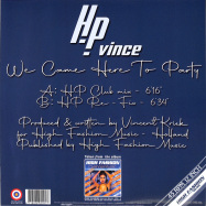 Back View : HP Vince - WE CAME HERE TO PARTY - High Fashion Music / MS 509
