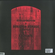 Back View : Benjamin Damage / Truncate - BATTLE / 86 (180 G VINYL) - 50 Weapons / 50Weapons048