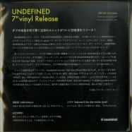 Back View : Undefined - AFTER EFFECT (7 INCH) - Newdubhall Records / NDH-VN-7-001