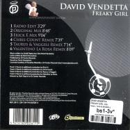 Back View : David Vendetta - FREAKY GIRL (Maxi-CD) - News / 541416502611