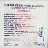 Back View : Various Artists - 5 YEARS OF ESCAPISM MUSIQUE- SUMMER COMP VOL 4 (CD) - Escapism Musique / EM060CD