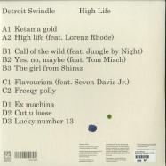 Back View : Detroit Swindle - HIGH LIFE (2LP, 180 G VINYL, DL CODE) - Heist Recordings / HEISTLP01