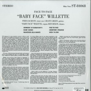 Back View : Baby Face Willette - FACE TO FACE (180G LP) - Blue Note / 7743434