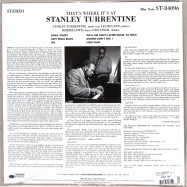 Back View : Stanley Turrentine - THATS WHERE ITS AT (180G LP) - Blue Note / 0862252