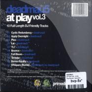 Back View : Deadmau5 - AT PLAY VOL. 3 (CD) - Play Records / playcd003