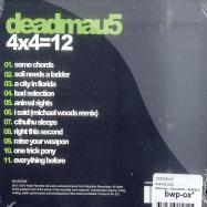Back View : Deadmau5 - 4x4=12 (CD) - Virgin Records / Mau5trap / Mau5CD05 / 9190612
