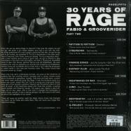 Back View : Fabio Grooverider - 30 YEARS OF RAGE PART 2 (LIMITED WHITE VINYL, 2LP) - Above Board Projects / RAGELPPT2LTD