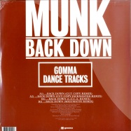 Back View : Munk - BACK DOWN - Gomma Dance Tracks / Gomma DT 04