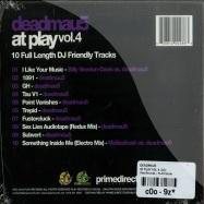 Back View : Deadmau5 - AT PLAY VOL. 4 (CD) - Play Records / PLAYCD006