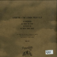 Back View : Lucretio - THE LISBON TREATY EP (VINYL ONLY) - Paramount City Records / PCR#1