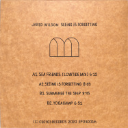 Back View : Jared Wilson - SEEING IS FORGETTING - 030303 / 030EP016