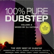 Front View : Various Arttists , mixed by DJ Hatcha - 100% PURE DUBSTEP VOL.2 (3CD) - New State / newcd9104